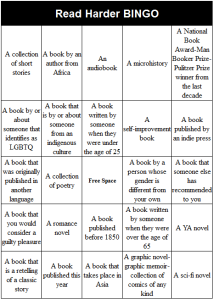 Read Harder BINGO